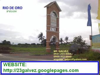 RIO DE ORO RES`L LOT FOR SALE Cavite