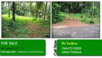39 Cents PLOT FOR SALE IN THRISS Kannapura