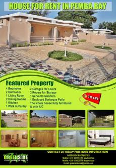 House for rent In Pemba Pemba