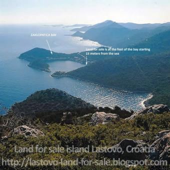 Lastovo island Zaklopatica land Zaklopatica, Lastovo