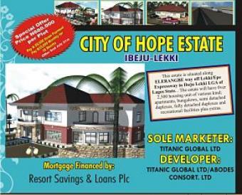 CITY OF HOPE ESTATE Lagos