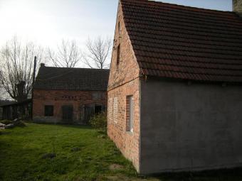 Beatiful old cottage and barn Nowogrod Bobrzanski