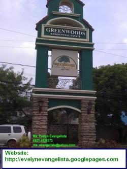 GREENWOODS LOT FOR SALE Pasig City