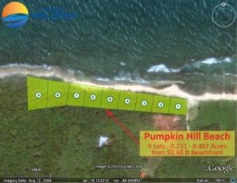 Beachfront -0.231 - 0.407 Acres Utila