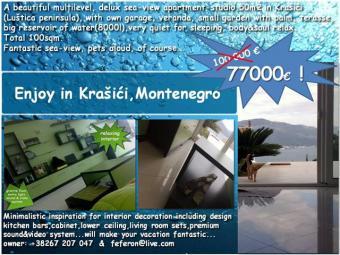 Seaview flat Montenegro Tivat
