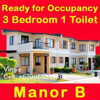 Manor B 3 bed 1 toilet 21k mthly Cavite