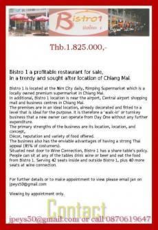 Profitable restaurant in the hea Chiang Mai