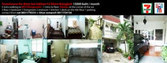townhouse for rent in silom soi9 10500