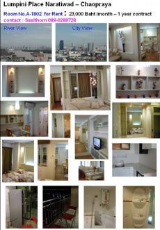 River View Condo for Rent Bangkok