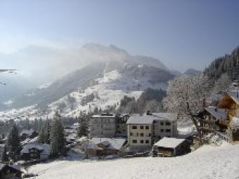 Position and views from chalet Adelboden