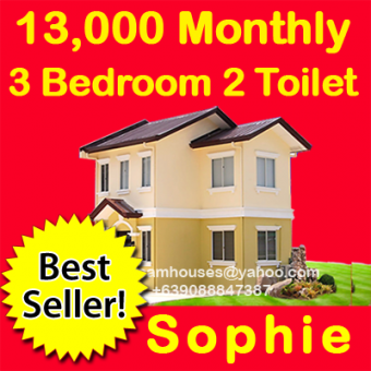 Sophie 3 bed 2 toilet 13k mthly. Cavite