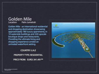 Palm Jumeirah - Golden Mile Dubai