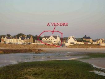 France building on the beach Santec